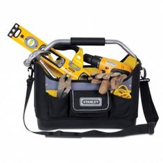 Stanley 16 Inch Open Tote Tool Bag Mechanics DIY House Warehouse Garage Tools   Enjoy this Cheap Gift. Visit LUXURY HOME BRANDS and Grab this offerNow!