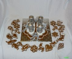 Christmas gingerbread - Advent candlestick - medovníkový adventný veniec