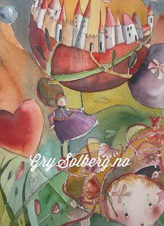 #illustration #watercolor #exhibition #fun #children #heart #balloon #grysolberg