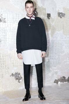 Trousers: http://shop.acnestudios.com/shop/men/trousers/drifter-trouser-str-dark-navy.html Scarf: http://shop.acnestudios.com/shop/men/accessories/jason-plum.html  Sweatshirt, Shirt & Accessories: Coming soon