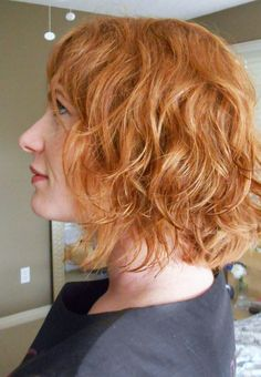 """The One Where I Get a Perm  great blog and images of """"tousled, beach-waved"""" perm"""