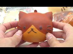 cute brown and dark brown cat face bread bun squishy charm kawaii - Food Squishies - Squishies - kawaii shop modeS4u