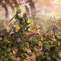 Age of Sigmar Fantasy Battle, Fantasy Armor, Warhammer 40k Art, Warhammer Fantasy, Orc Armor, Dcc Rpg, Goblin Art, Age Of Sigmar, Gundam Wallpapers