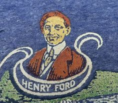 VINTAGE 1920s DETROIT MICHIGAN PENNANT HENRY FORD MOTOR CO. FACTORY CAR AUTO MI