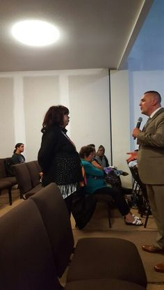 Sister Maribel got a word from God at the revival with Pastor Wacker.