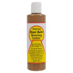 Maui Babe Amazing Browning Lotion  -- This is the BEST tanning lotion I have ever used.