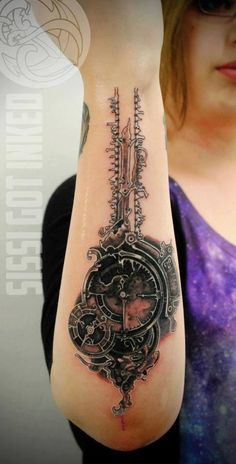 Key of times tattoo on arm.. Click on the pic for more #tattoos