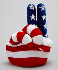Patriotic Peace Sign Velvet Hat