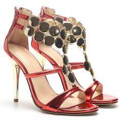Fashion Metal and Stiletto Heel Design Women's Sandals