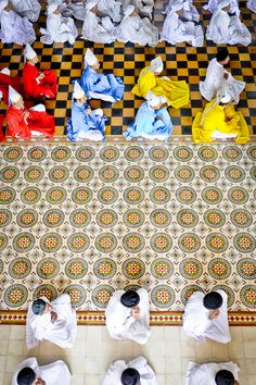 Vietnamese Cao Dai Monks by Sivan Askayo on Artfully Walls