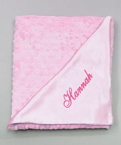 Take a look at this Pink Snuggle Personalized Stroller Blanket by Princess Linens Layette on #zulily today!