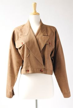 NEW! 1980's vintage brown cropped jacket