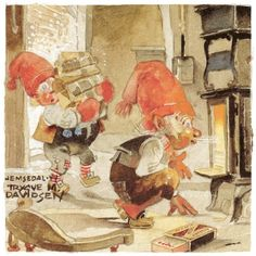 Nissi, by Trygve Marentiusa Davids (Trygve M. Davidsen, 1895-1978) Illustratore norvegese.