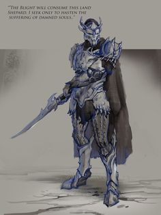 Saren Sketch by AndrewRyanArt on deviantART (Mass Effect in Dragon Age's world. OH SNAP.)
