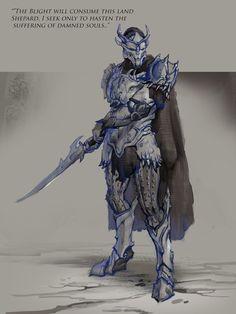 Saren Sketch by AndrewRyanArt on deviantART (Mass Effect in Dragon Age's world. OH SNAP.)