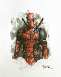 #Deadpool #Fan #Art. (Deadpool - I) By: AimmanShimuda. (THE * 5 * STÅR * ÅWARD * OF: * AW YEAH, IT'S MAJOR ÅWESOMENESS!!!™)[THANK U 4 PINNING!!!<·><]<©>ÅÅÅ+