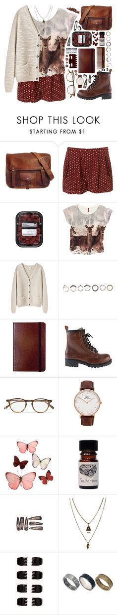 """""""Outfit 249"""" by holass ❤ liked on Polyvore featuring H&M, La Garçonne Moderne, Iosselliani, C.R. Gibson, Garrett Leight, Daniel Wellington, Jamie Jewellery, Forever 21 and Just Acces"""