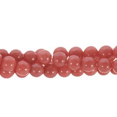 Coral Mountain Jade 6mm Round Gemstone Bead Strand