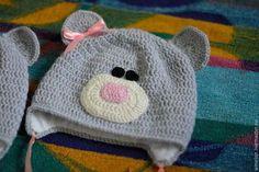 """Шапки и шарфы ручной работы. Ярмарка Мастеров - ручная работа. Купить Шапка """"Мишка Тедди"""". Handmade. Разноцветный, крючком, миньоны"""