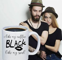 Funny Mugs, Rings, T-Shirts & more by FunnyLara Cool Kitchen Gadgets, Cool Kitchens, Black Coffee, My Coffee, Gifts For Teens, Gifts For Him, Coffee Lover Gifts, Coffee Lovers, Black Like Me