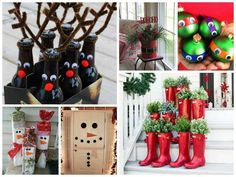Christmas is coming soon, and you'll find in this post some inspiration for easy DIY projects. Which one is your favorite? With this Tin can, everybody kno Recycled Christmas Decorations, Snowman Decorations, Diy Decoration, Holiday Decorations, Holiday Ideas, Christmas Is Coming, Christmas Holidays, Christmas Crafts, Coastal Christmas