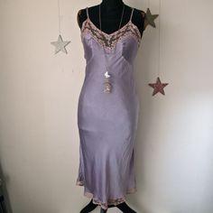 1940s lilac bias cut slip (or dress)  #1940s