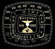 Vintage radio dial face.