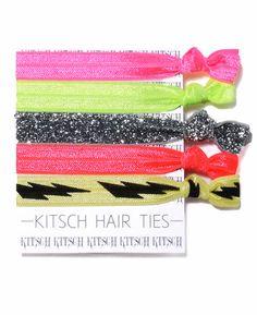 Kitsch Electric Slide Set of 5 Hair Ties | south moon under