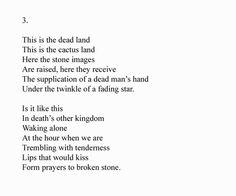 The Hollow Men, T.S. Eliot, Part 1 | Poetry | Pinterest | The o ...