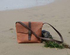 Leather Messenger Bag Women/Shoulder Bag/Crossbody Bag/Canvas Messenger Bag/Leather Crossbody/Leather Bag/Women Messenger Bag/Brown Leather