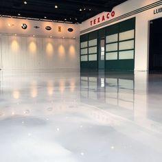 Garage Floor Coating Ideas White Sparkling Epoxy