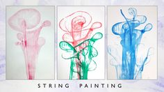 How To Make Your Abstract Painting Using String, Yarn, C0021
