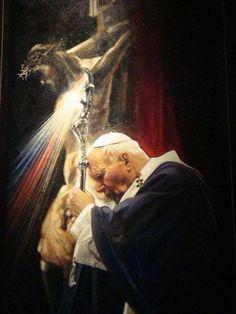 Divine Mercy Sunday was established by Pope John Paul II as a permanent solemn feast day, April 2000 Catholic Religion, Catholic Quotes, Catholic Prayers, Catholic Saints, Roman Catholic, Jean Paul Ii, Pope John Paul Ii, Papa Francisco, Image Jesus