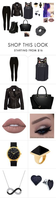"""""""Untitled #65"""" by klaudija369 on Polyvore featuring beauty, River Island, MICHAEL Michael Kors, Lime Crime, Kenneth Jay Lane, BillyTheTree and Wyatt"""
