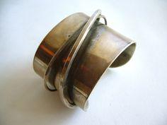 Modernist Cuff | Artist ?.  Sterling silver. ca. 1950s.