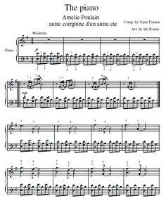 Here's a free piano sheet of the amelie soundtrack song comptine dun autre ete.