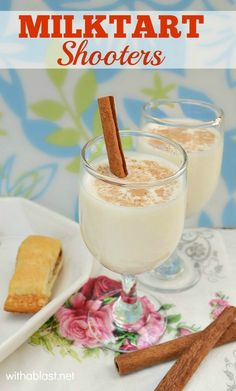 One of South-Africa's gems ! Milktart Shooters - taste just like the tart, but with a huge kick !
