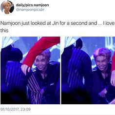 Are we not going to mention that Namjoon looks like his going to kill someone in the first picture. Namjin, Bts Memes, Bts Love, Got7, Bts Tweet, About Bts, Bulletproof Boy Scouts, Rap Monster, Yoonmin