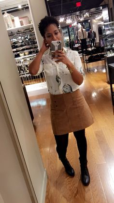 Cordoroy skirt outfit