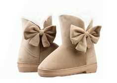 Sweet Women's Snow Boots With Solid Color and Bows Design (WHITE,38) | Sammydress.com