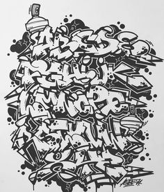 Grafitti Alphabet, Graffiti Lettering Alphabet, Tattoo Lettering Fonts, Doodle Lettering, Graffiti Books, Graffiti Artwork, Graffiti Painting, Dark Art Tattoo, Graffiti Designs
