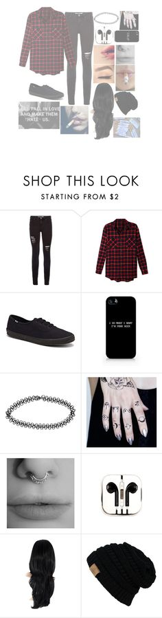 """""""•My Ghost, Where'd You Go•"""" by cupcake-muke ❤ liked on Polyvore featuring LE3NO, Keds, Boohoo and PhunkeeTree"""