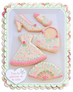 Only for girls Mother's Day Cookies, Kinds Of Cookies, Iced Cookies, Cute Cookies, Yummy Cookies, Sugar Cookies, Cookies Et Biscuits, Baking Cookies, Homemade Cookies