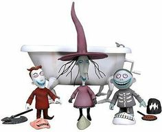 NECA The Nightmare Before Christmas Action Figure Boxed Set Lock, Shock, Barrel Bath Tub by NECA, http://www.amazon.com/gp/product/B000GQ0XH8/ref=cm_sw_r_pi_alp_Swahqb00GBV0Y