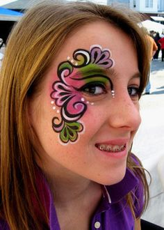 Girl face painting designs 30 awesome face painting tattoo designs