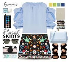"""The Perfect Summer Floral Skirt // Top Fashion Sets for Jul 23rd, 2016"" by bliznec-anna ❤ liked on Polyvore featuring Bardot, Gianvito Rossi, MICHAEL Michael Kors, Ray-Ban, Kate Spade, Topshop, Henri Bendel, polyvoreeditorial, Floralskirts and polyvorecontest"