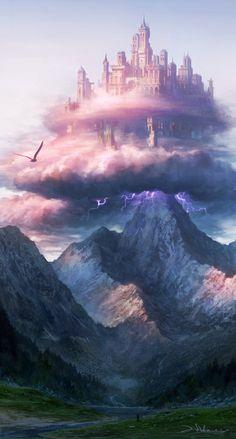 Fantasy landscape art castles posts ideas for 2019 Fantasy Kunst, Fantasy City, Fantasy Castle, Fantasy Places, Sci Fi Fantasy, Fantasy World, Fantasy Story, Final Fantasy, Fantasy Artwork