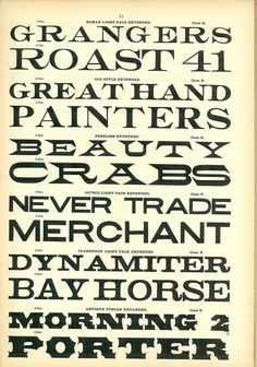 Morgans & Wilcox Wood Type Catalog