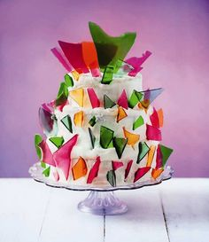 Click through to read Lily Vanilli's recipe for her Shattered Glass Cake