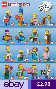 Lego Mini Figures - The Simpsons - Series 2 - 2015 Lego Film, Lego Movie, Lego Simpsons, Minifigura Lego, Casa Lego, Lego People, Lego Minifigs, Lego Worlds, Lego Parts